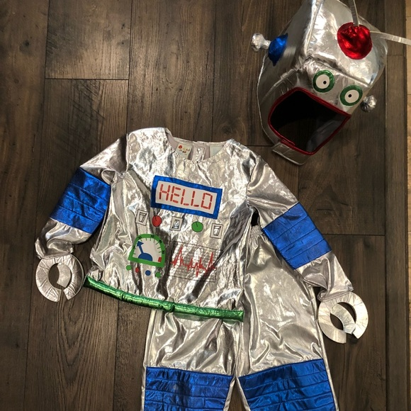 Toddler boy Robot costume with headpiece size 4T & Costumes | Toddler Boy Robot Costume With Headpiece Size 4t | Poshmark